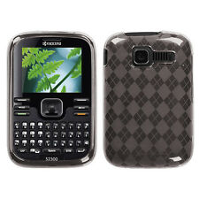 For Kyocera Loft / Torino S2300 TPU CANDY Hard Gel Flexi Case Cover Smoke Plaid