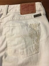 Lucky Brand Picket Fence Lola Straight Leg White Stretch Jeans Size 8 Or 29 X 33
