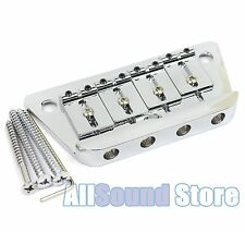 NEW Danelectro Adjustable Saddle Bass Bridge CHROME with Mounting Screws