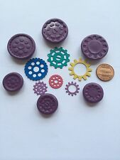 One Set Gear Flexible Silicone Push Molds for Polymer clay Resin