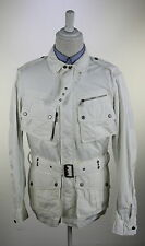 NWT New * RALPH LAUREN * Black Label $1398 White Combat Belted Jacket~ Medium