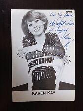 KAREN KAY - SUPERB JAZZ SINGER - STUNNING SIGNED B/W PHOTO
