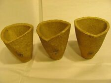 Lot O'3 Plumbago Clay Gold Mining Crucible Assay Morgan England Refining Antique