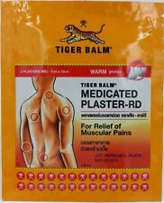 1pack (2pcs) TIGER BALM Warm Medicated Plaster-RD Relief of Muscular Pain