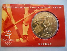 2000 $5 SYDNEY OLYMPIC GAMES ( Hockey No 5 ) Coin on Card and outer Sleeve