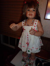 "Monica Levenig 30"" tall porcelain doll masterpiece gallery 750 made"