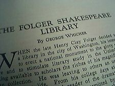 picture 1932 theatre arts monthly the folger shakespeare library george whicher