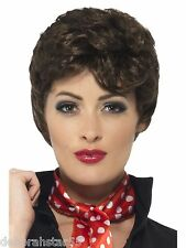 Smiffy's Ladies Adult Official Grease Pink Ladies Rizzo Wig Fancy Dress Costume