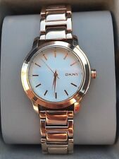 DKNY Tompkins Rose Gold Tone Stainless Steel Women's Watch NY2210 NWT