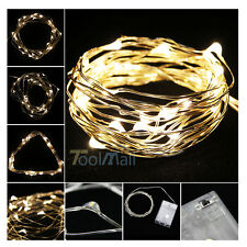 New Battery Powered Copper Wire 30 Led String Fairy Light 3M/9FT Warm White Xmas