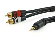 "1.5ft Premium (1/8"") 3.5mm AUX Stereo Male to 2-RCA Male Audio Cable Cord MP3"