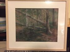 Pastel Painting by Eleanor Berger, Smithtown, NY  Titled Fallen Trees Framed