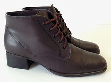 Easy Spirit Crescent Brown Leather Ankle Boots Size USA  7.5 Narrow