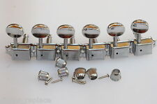 Clavijero Guitarra Cromadas Bushing 9 mm. Guitar Tuning Keys Chrome Clavijas
