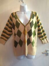 Woman's Mix Pattern Jumper Style Top Size 22 By Next