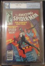 THE AMAZING SPIDER-MAN #252 PGX 9.6 -- WHITE PAGES! 1ST BLACK COSTUME! CGC CBCS