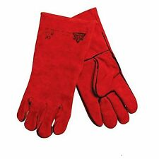 HEAVY DUTY CAT II  SAFETY WELDERS GLOVES GAUNTLETS WELDING RED MIG ARC HEAT WORK