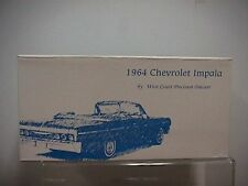 West Coast Precision Diecast 1964 Chevy Impala Conv. White / Blue Interior