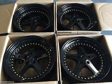 """18"""" ESR SR04 Gloss Black Wheels 18X8.5 5X120 +30 For BMW E36 M3 Rims Set of (4)"""