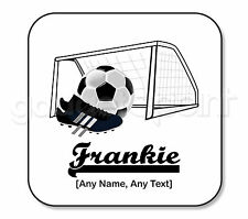 Personalised Gift Football Goal Coaster Boots Sport Net Goalkeeper Coach -Square