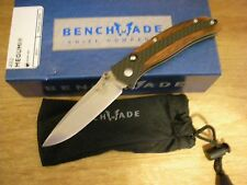 Benchmade Megumi 482 Cherry Wood & Carbon Fiber Scales Gents Folder