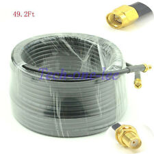49FT Low Loss SMA Antenna Extension Cable SMA MALE to SMA Female COAXIA RG58 15M