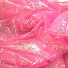 Iridescent Rainbow Crinkle Organza Fabric 9 colours with colour changing effect