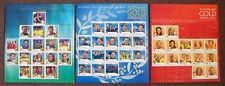 AUSTRALIAN OLYMPIC GOLD MEDALLISTS-2000 -2004-2008  3 STAMP SHEETLETS