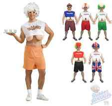 Adulto Para Hombre Funny droopers Hooters Big Boobs Fancy Dress Despedida Disfraz Saggy