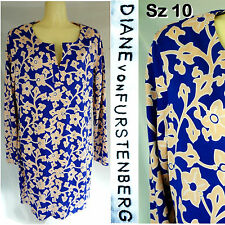 NEW NWOT DIANE von FURSTENBERG DRESS DRESS Reina SILK JERSEY Long Slv Sz 10
