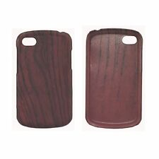 ULTRA THIN TPU WOODEN MAHOGANY EFFECT MATTE HARD CASE FOR NEW BlackBerry Q10
