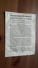 1793 Gazeta de Madrid Núm 22 del Viernes 15 Marzo Amsterdam Cagliari Francfort
