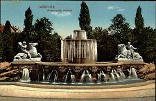 München Munich Bayern Bavaria AK ~1920 Wittelsbacher Brunnen Fountain Postcard