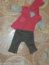 AMERICAN GIRL STAR HOODIE DRESS & LEGGINGS fr OUTFIT RETIRED 2008 8TH MEET JLY