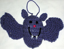 HANDMADE Knit CROCHET Hanging BATS for HALLOWEEN Holiday CHRISTMAS Tree ORNAMENT