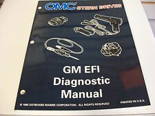 USED OMC STERN DRIVES SERVICE MANUAL GM EFI DIAGNOSTIC MANUAL 507147
