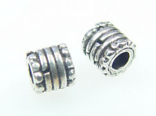 925 Sterling Silver Handcrafted Bali 5x5mm Tube Beads 10pcs