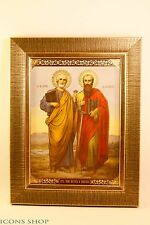 peter and paul icon icon russian orthodox  апостолы петро и павло икона 7x9