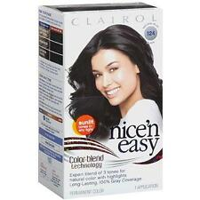 Clairol Nice 'n Easy Hair Color 124 Natural Blue Black