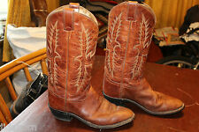 TALL VINTAGE TONY LAMA BROWN LEATHER URBAN COWBOY BOOTS 9 EE