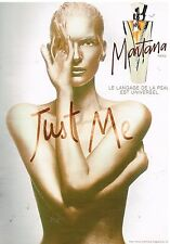 "Publicité Advertising 1997 Parfum ""Just me"" par Montana"