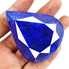 GENUINE RARE 475.00 CTS NATURAL PEAR SHAPED FACETED RICH BLUE SAPPHIRE GEMSTONE