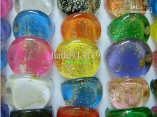 15 mix flat head  resin rings  lots wholesale joblot