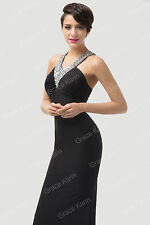 BLACK Prom Long Formal Evening COCKTAIL Mermaid Gowns Bridesmaid Party Dresses