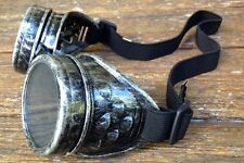 Steampunk goggles antique silver burning man costume circus victorian goth funk