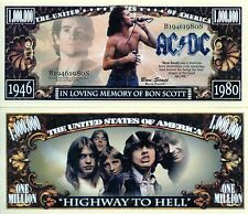 In Loving Memory of Bon Scott - AC/DC Million Dollar Novelty Money