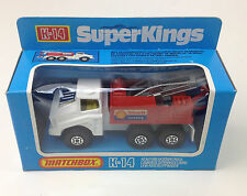 SUPER KINGS  MATCHBOX  K-14 DIE CAST SHELL RECOVERY TRUCK ENGLAND Blue Box