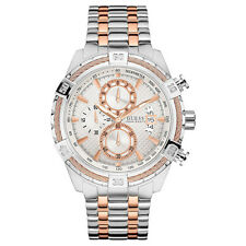 NEW GUESS WATCH for Men * Chronograph * Two Tone Rose Gold/Silver U0522G4 $200