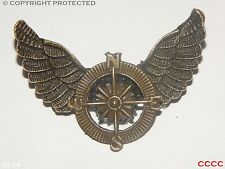 Steampunk brooch badge Bronze pirate compass owl wings Harry Potter Black sails