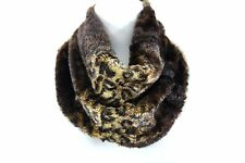 B143 Eternity Soft Leopard Animal Print Brown & Black Neck Warmer Infinity Scarf